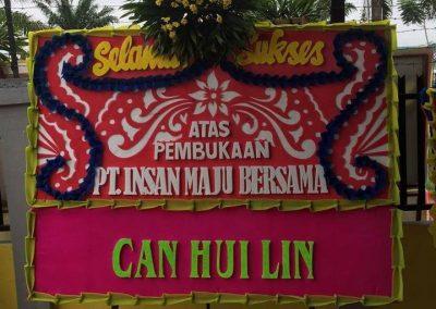 Bunga Papan ucapan peresmian perusahaan di Pontianak