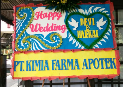 Papan Ucapan Happy Wedding