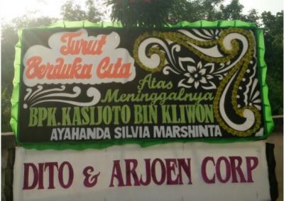 Bunga papan duka cita di Pontianak