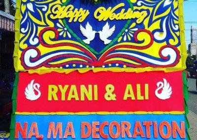Bunga papan Wedding Pontianak